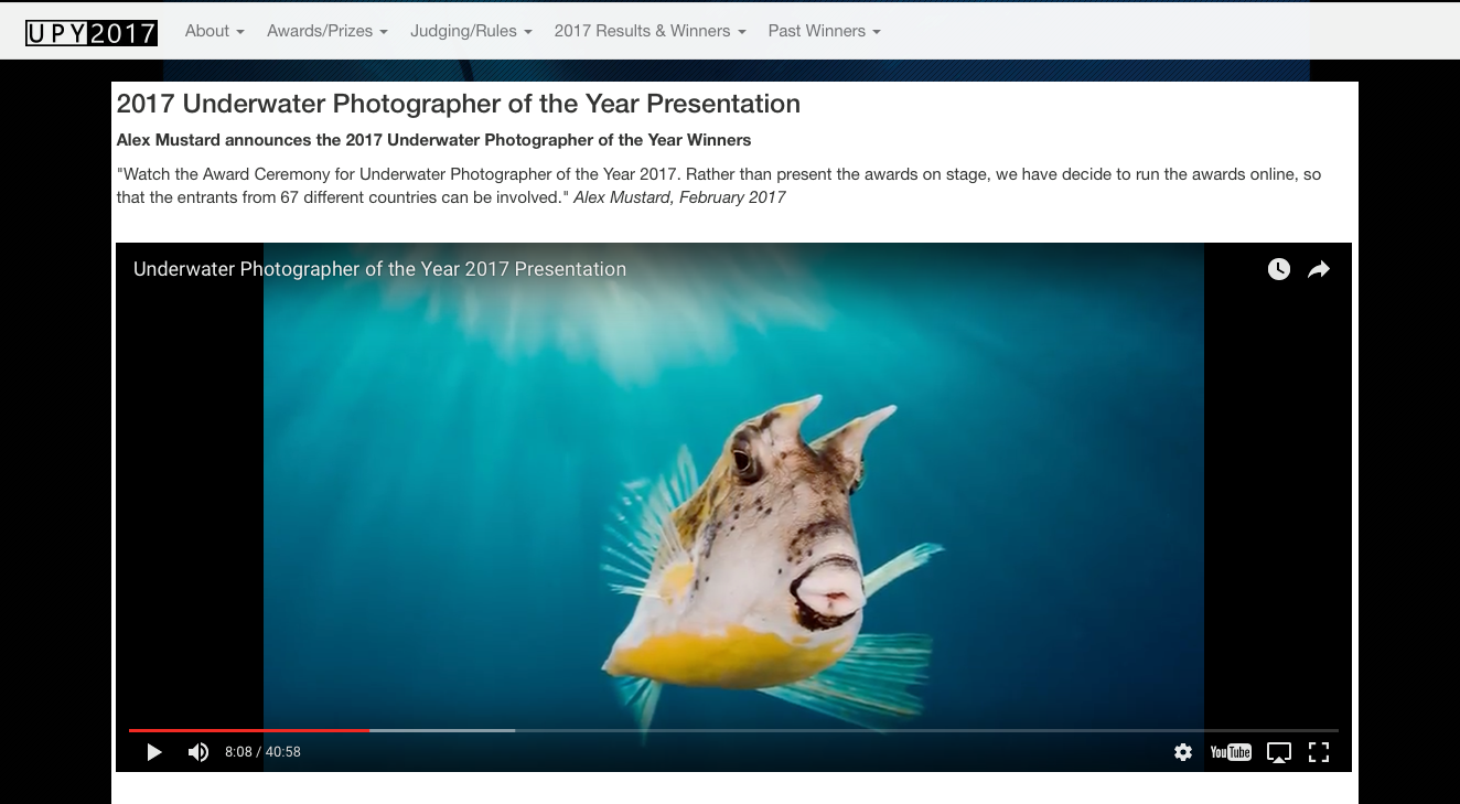 Le Fenua remarqué au concours Underwater Photographer of the Year